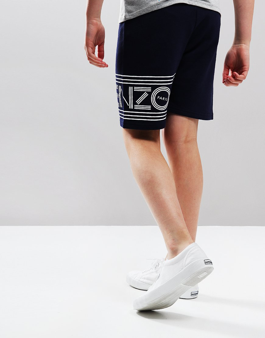 15c8786363d9 Kenzo Kids Logo JB11 Bermuda Shorts Navy - Terraces Menswear