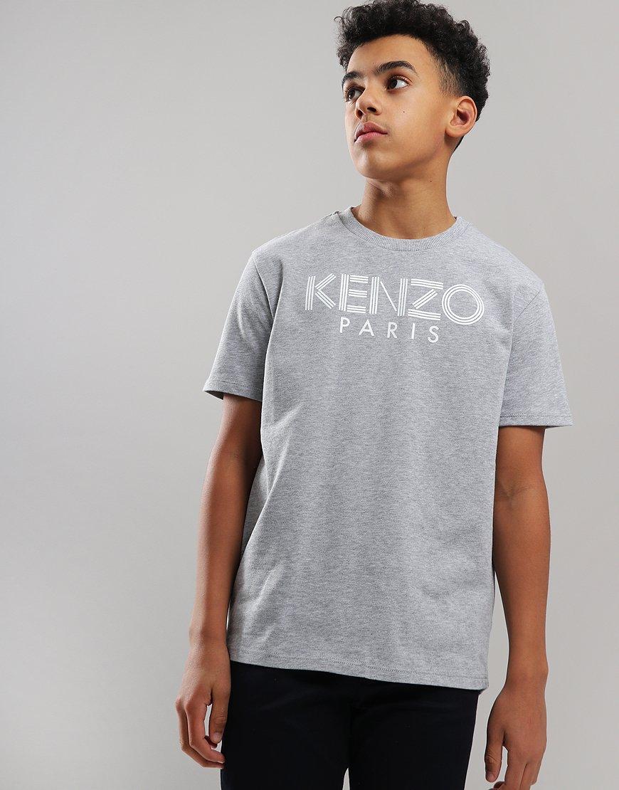 Kenzo Kids Logo JB2 T-Shirt Marl Grey