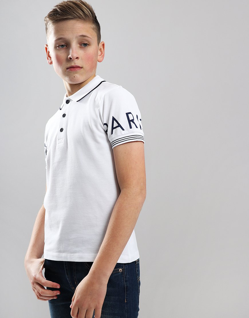 Kenzo Kids JB4 Logo Polo Shirt Optic White