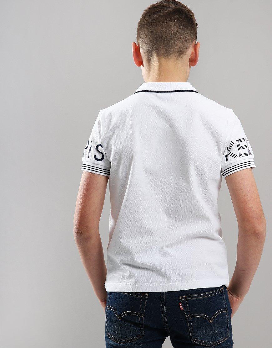 a48ee61fc Kenzo Kids JB4 Logo Polo Shirt Optic White - Terraces Menswear