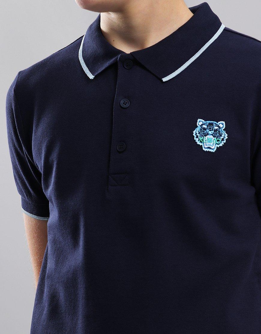 663f688c Kenzo Kids JB Per2 Polo Shirt Navy - Terraces Menswear