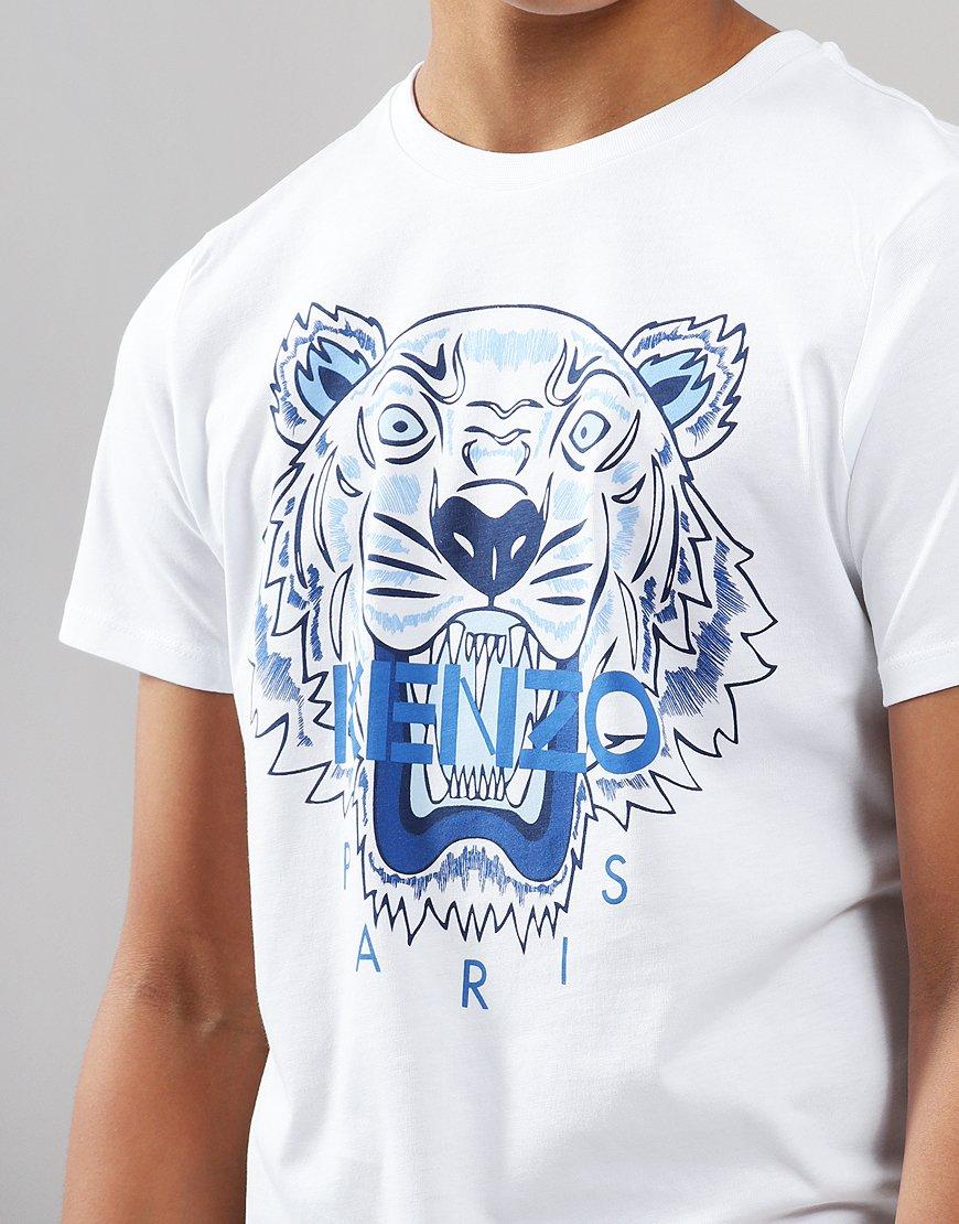 8853c223f Kenzo Kids Tiger JB Per1 T-Shirt Optic White - Terraces Menswear