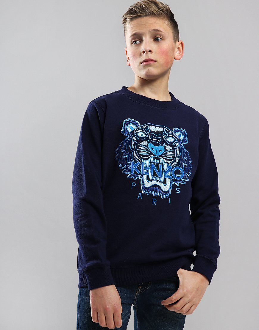 Kenzo Kids Tiger Logo JB Per2 Sweat Navy
