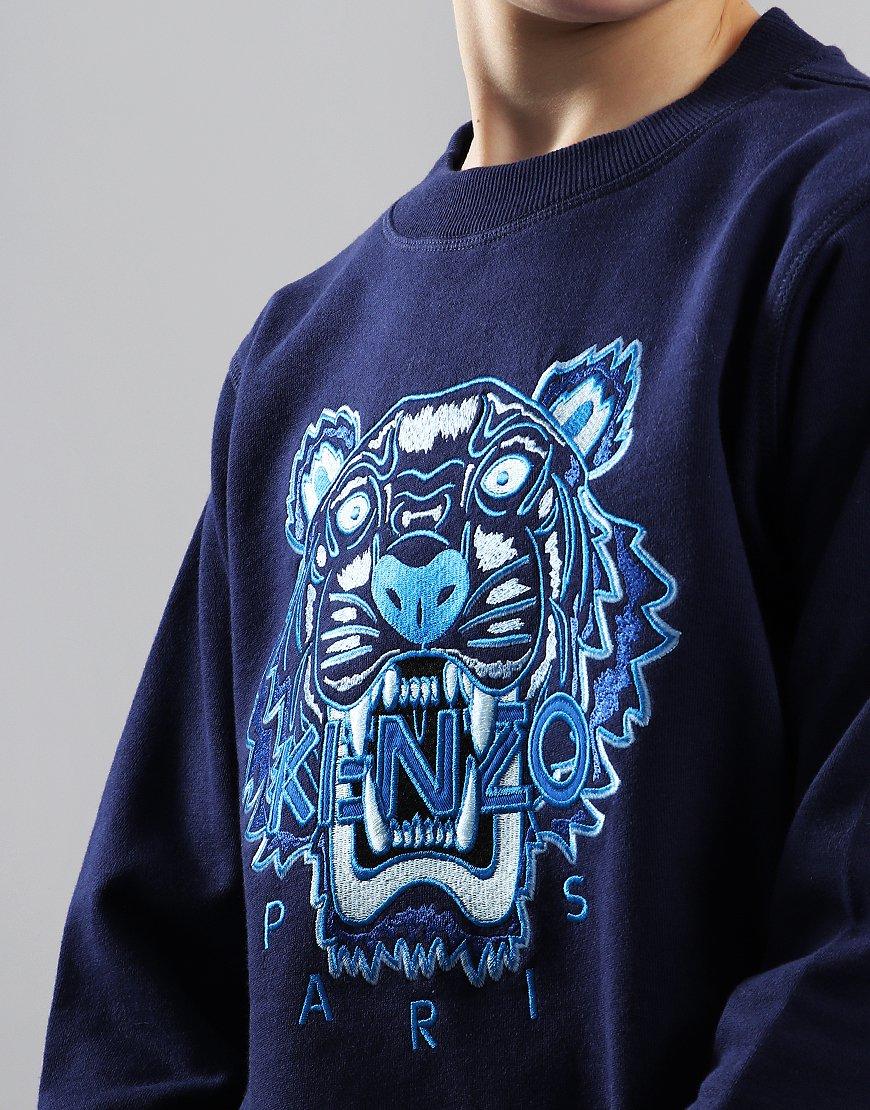 7f759a48 Kenzo Kids Tiger Logo JB Per2 Sweat Navy - Terraces Menswear