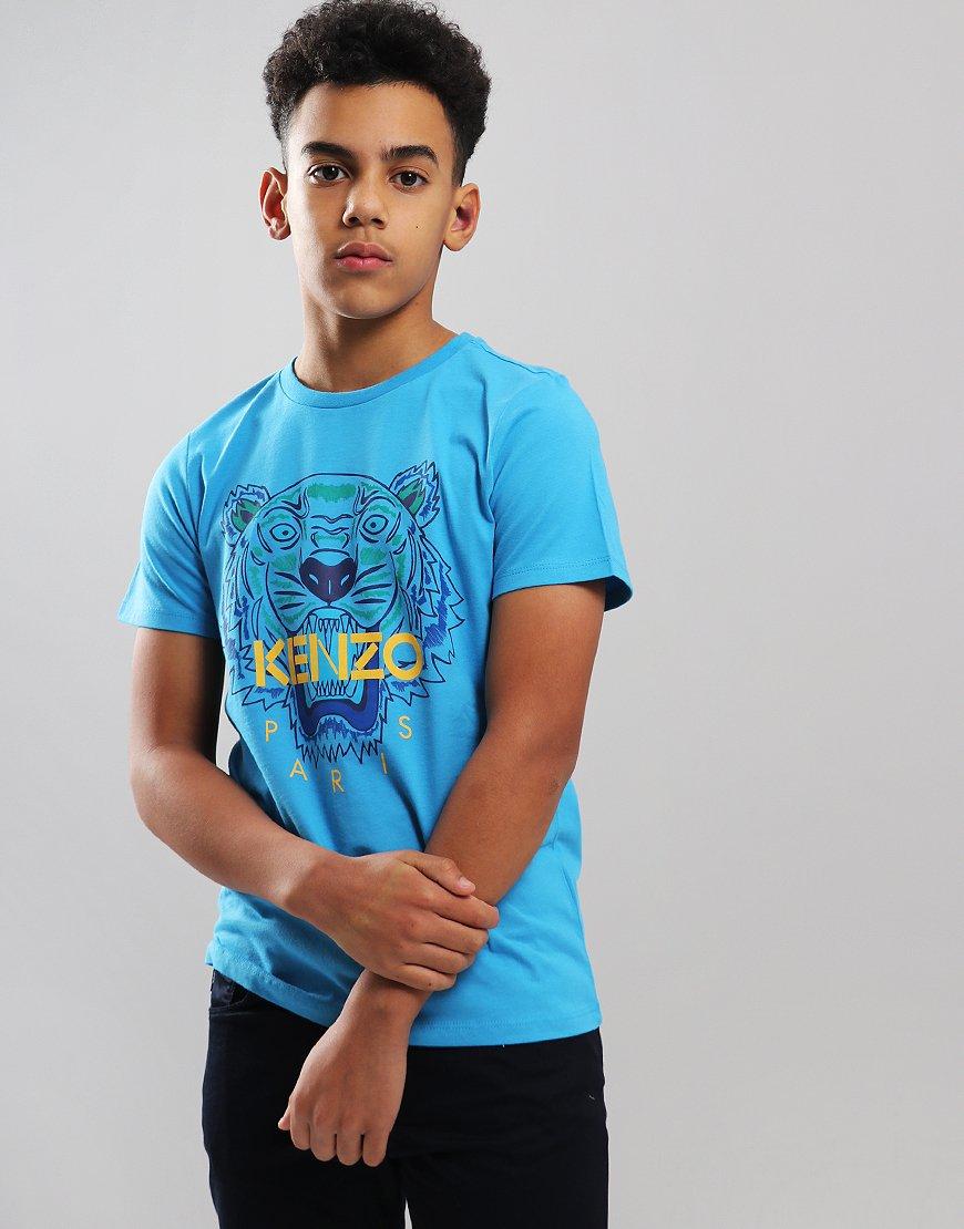 2152dcd3 Kenzo Kids Tiger JB2 T-Shirt Scuba Blue - Terraces Menswear
