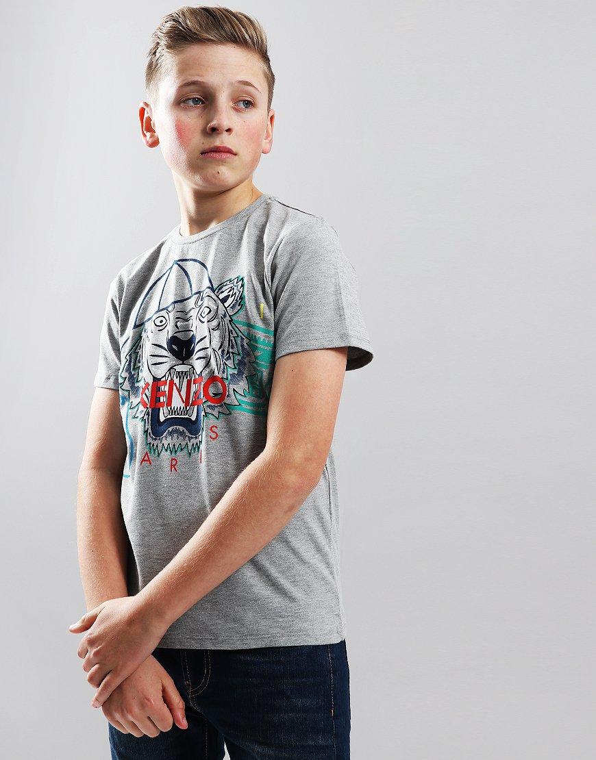 Kenzo Kids Tiger JB3 T-Shirt Marl Grey