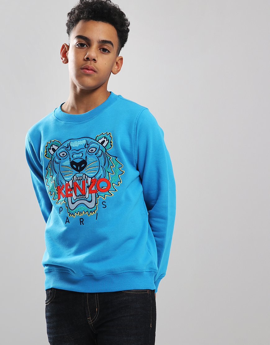 Kenzo Kids Tiger JB6 Sweat Scuba Blue
