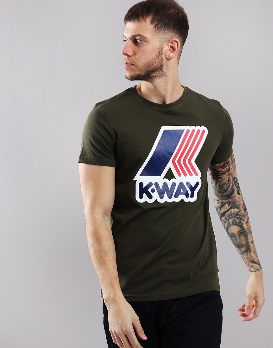 K-Way Pete Macro Logo T-Shirt Green Africa