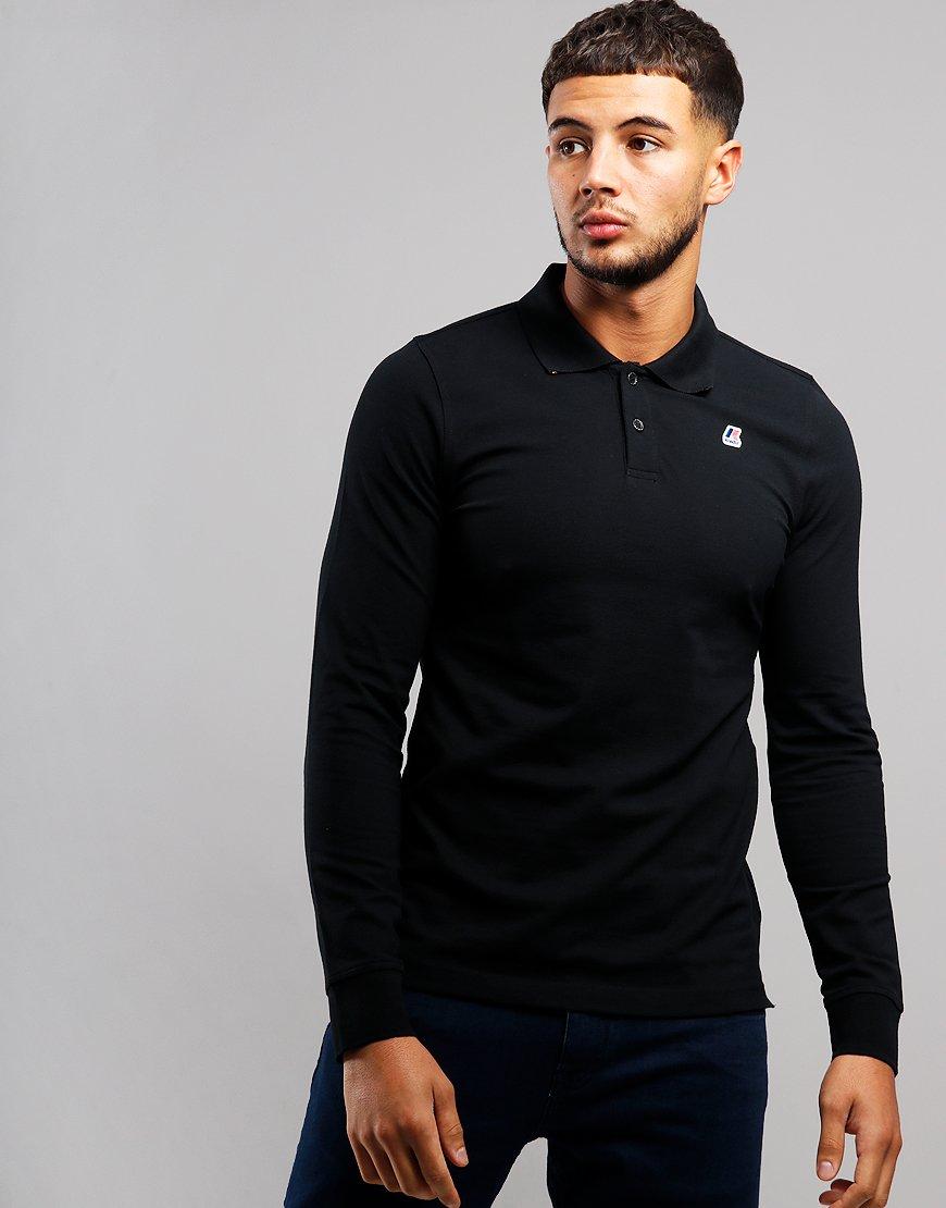 K-Way Rochel Long Sleeve Polo Shirt Black
