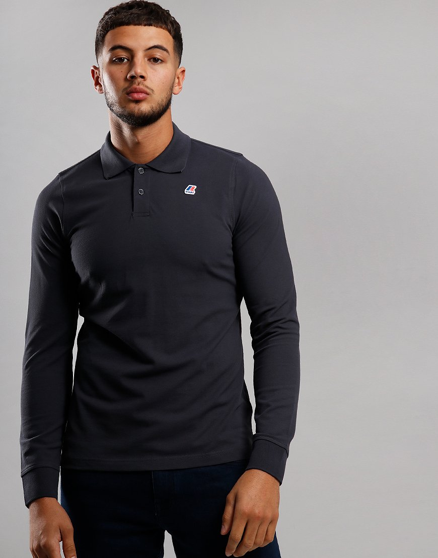 K-Way Rochel Long Sleeve Polo Shirt Grey Anthracite