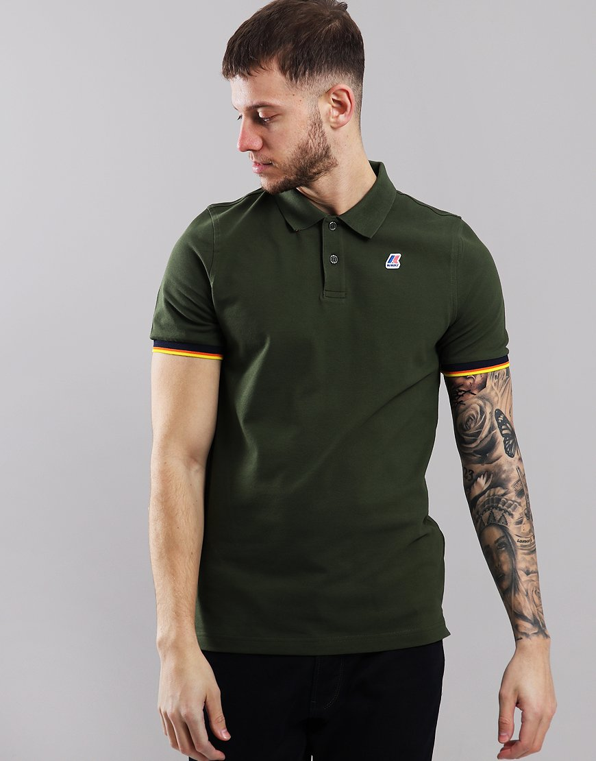 K-Way Vincent Contrast Polo Shirt Green Africa