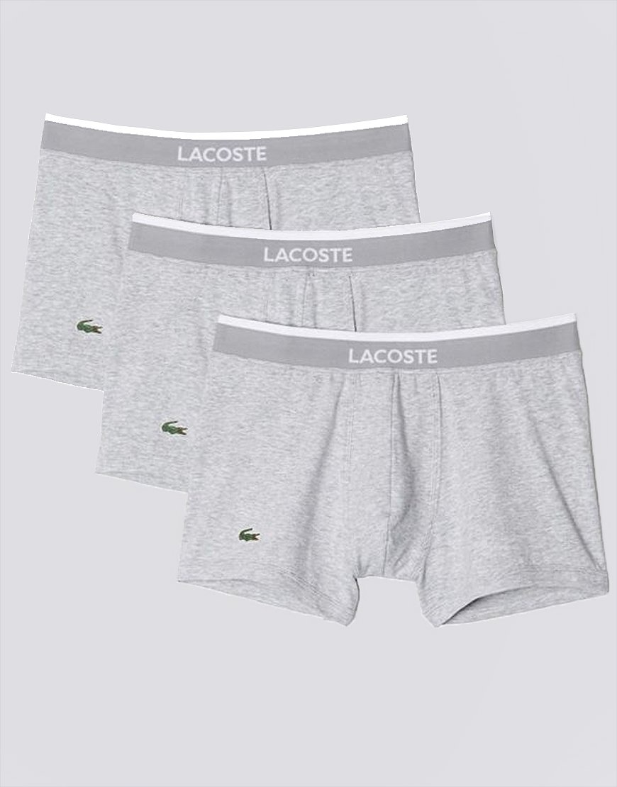Lacoste 3 Pack Boxer Shorts Grey