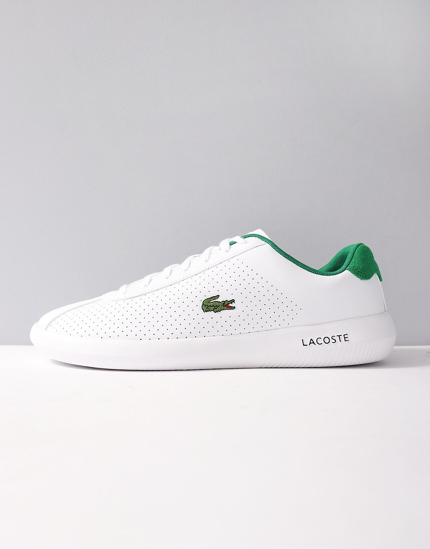 Lacoste Avance 318 Synthetic and Suede Trainers White/Green