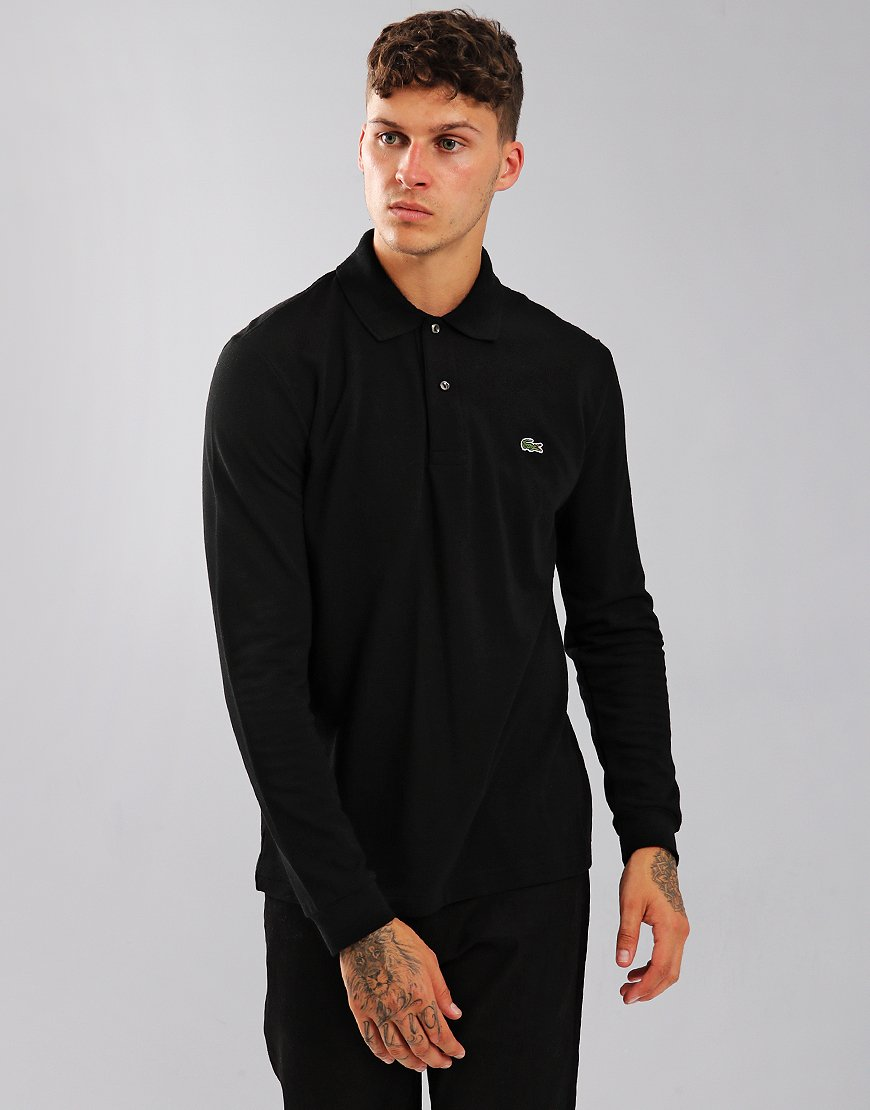 Lacoste Long Sleeve L1212 Polo Shirt Black