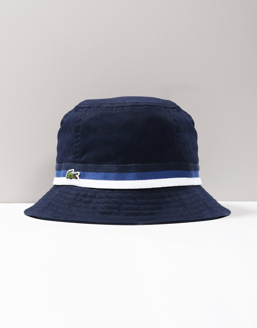 Lacoste Kids Cotton Twill Bucket Hat Navy