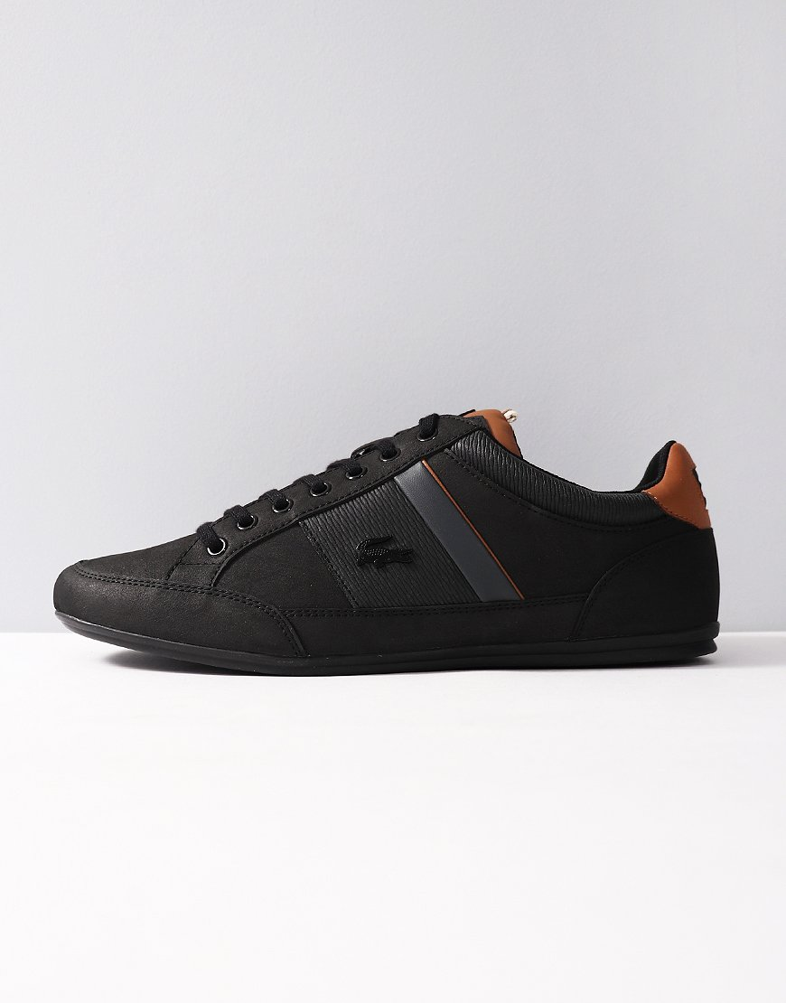 43c61fc81 Lacoste Chaymon 318 Trainers Black Brown - Terraces Menswear
