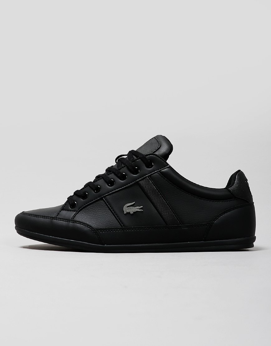 Lacoste Chaymon 319 Leather Trainers Black/Black