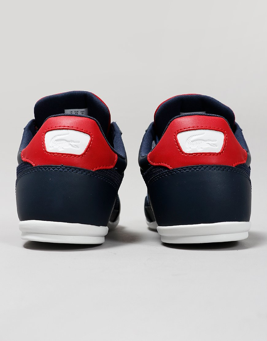 Lacoste Chaymon 319 Leather Trainers Navy/Red