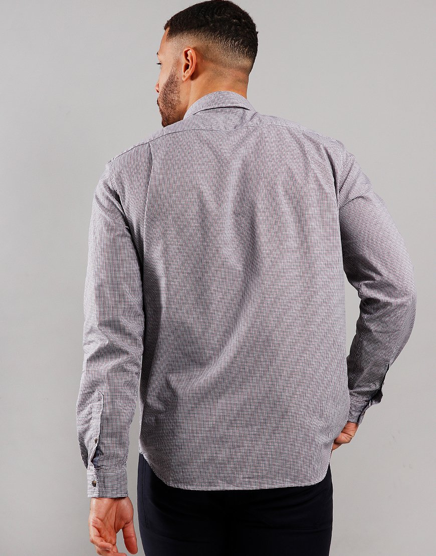 Lacoste Long Sleeve Check Shirt Navy/Alizarin