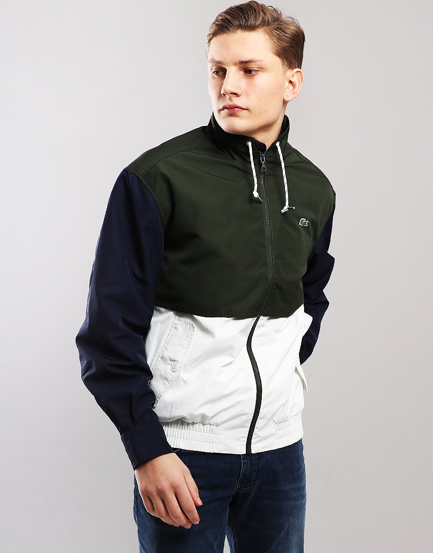 Lacoste Colour Block Zip Jacket Flour/Caper/Navy