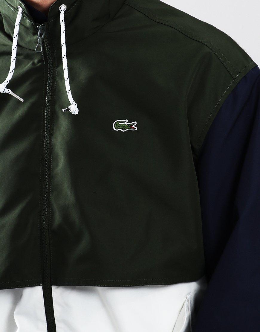 Lacoste Colour Block Zip Jacket Flour/Caper/Navy