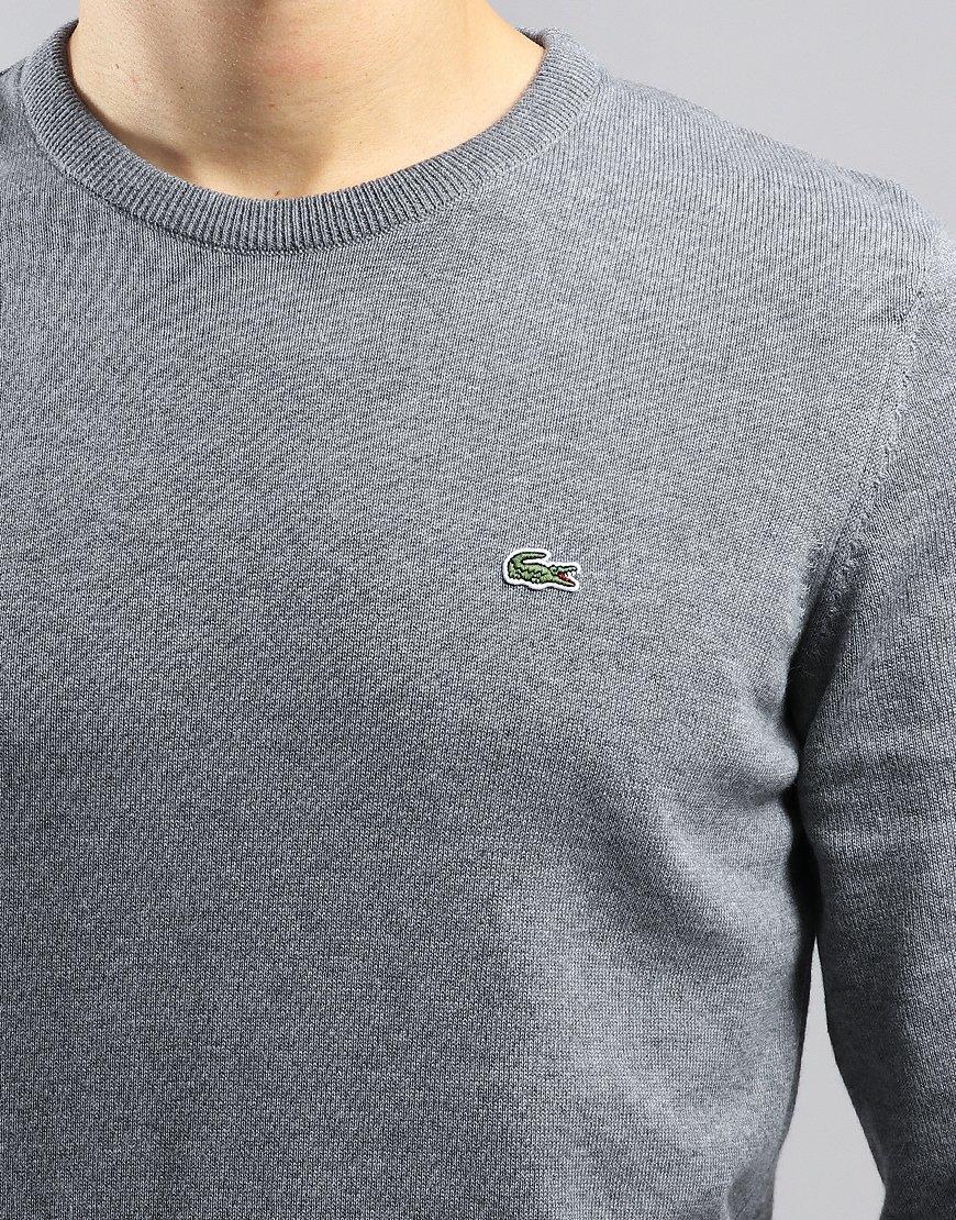 Lacoste Caviar Piqué Accent Cotton Crew Neck Knit Galaxite Chine