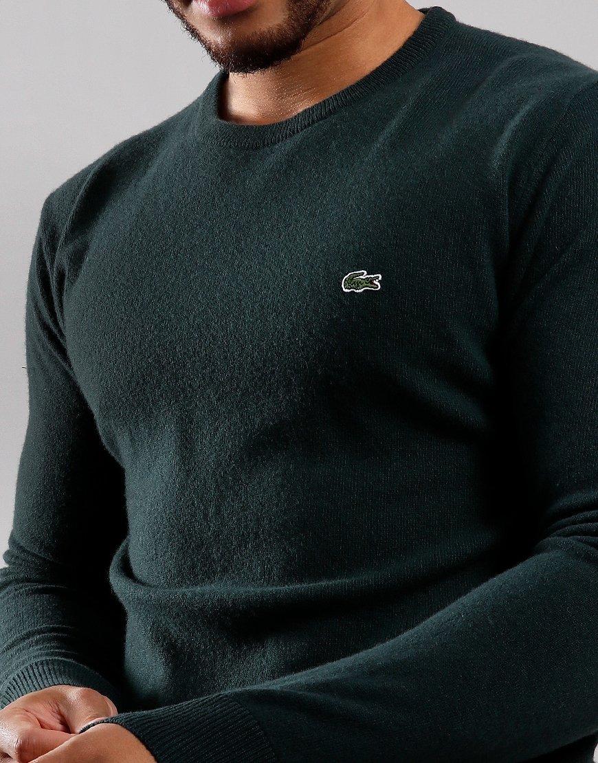 Lacoste Wool Crew Neck Knit Sinople/Navy/Flour