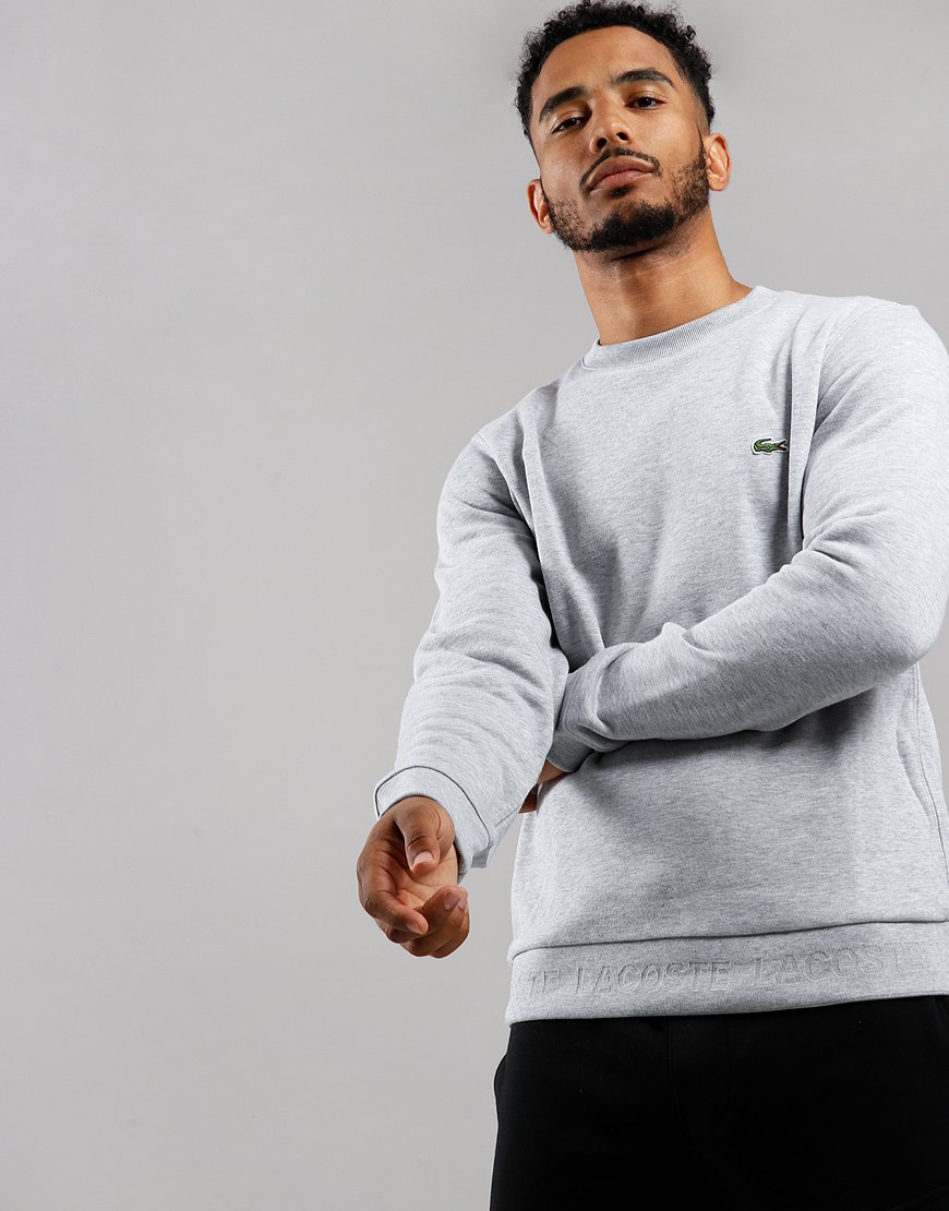 Lacoste Crew Neck Sweat Silver Chine