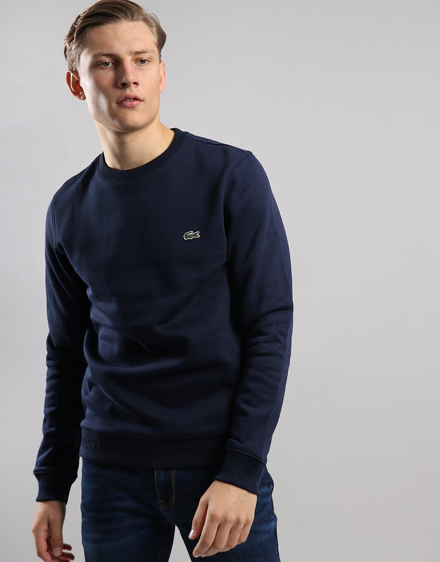 6e44ee653600 Lacoste Crew Neck Sweat Navy - Terraces Menswear