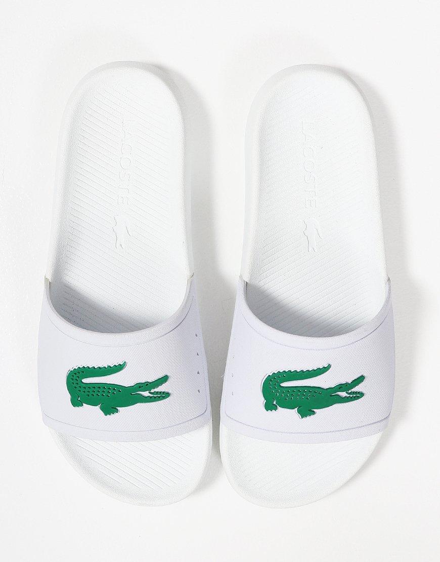 b524fa5ddea Lacoste Croc Slides 119 Green White - Terraces Menswear