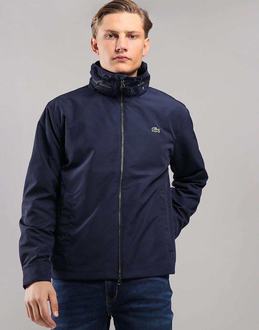 Lacoste Funnel Neck Zip Jacket Navy Blue