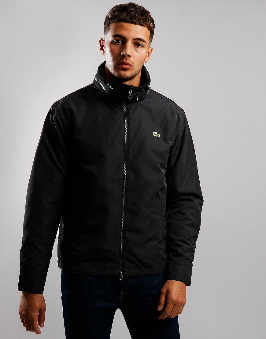 Lacoste Funnel Neck Zip Jacket Black