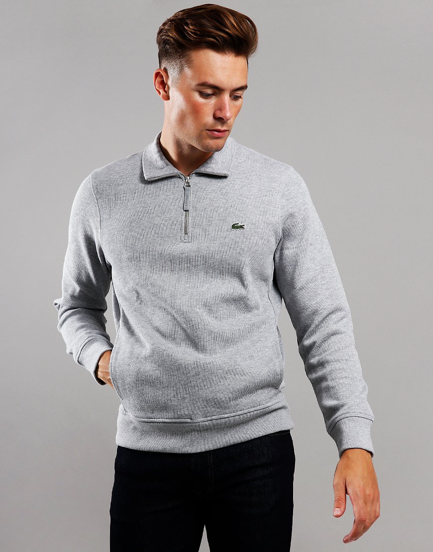 Lacoste Half Zip Sweat Silver Chine