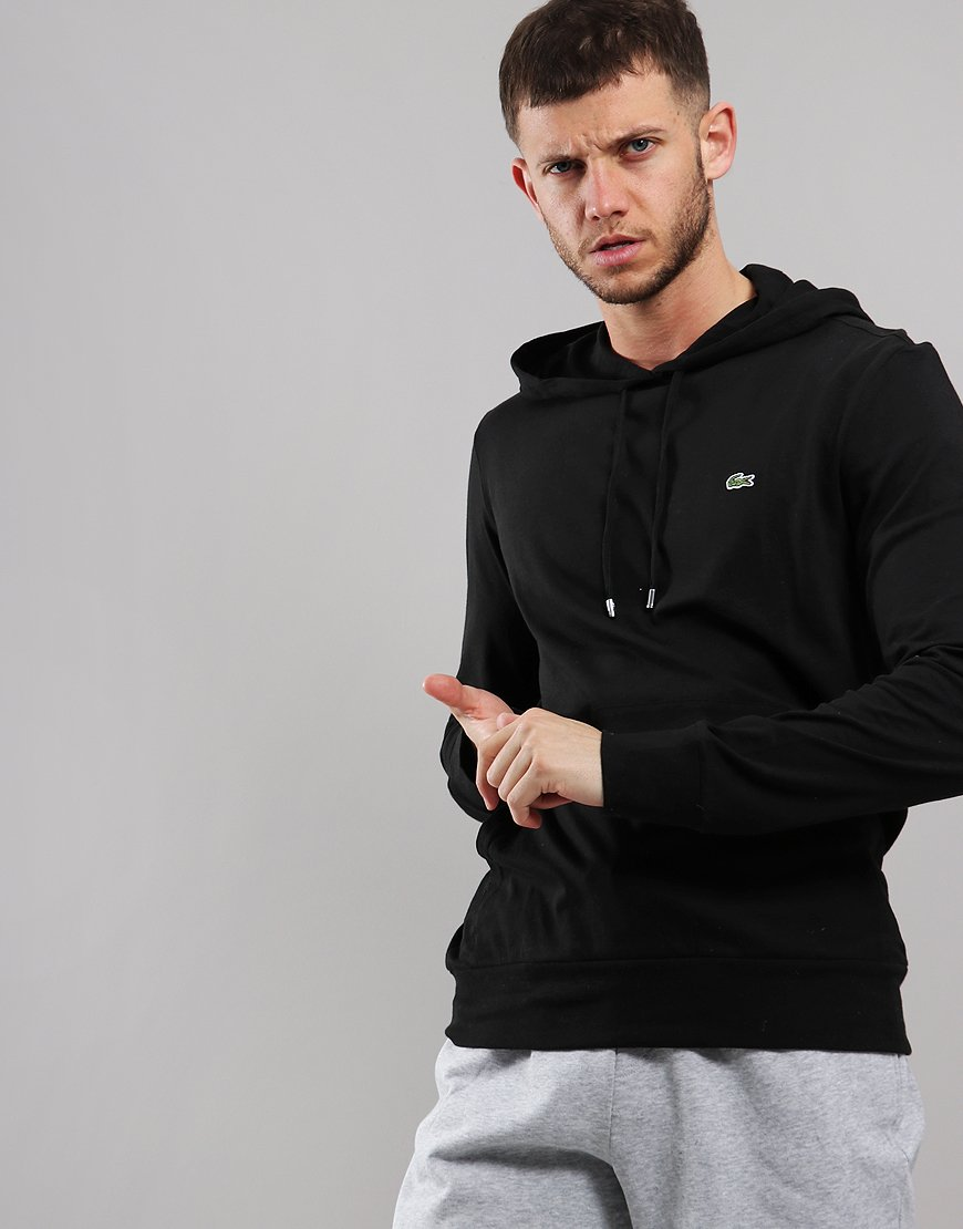 Lacoste Lightweight Hooded Piqué T-Shirt Black