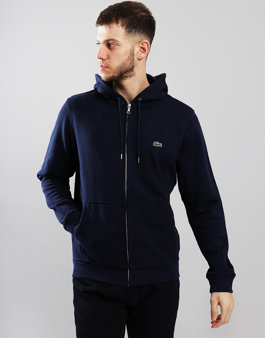 Lacoste Full Zip Hooded Sweat Navy