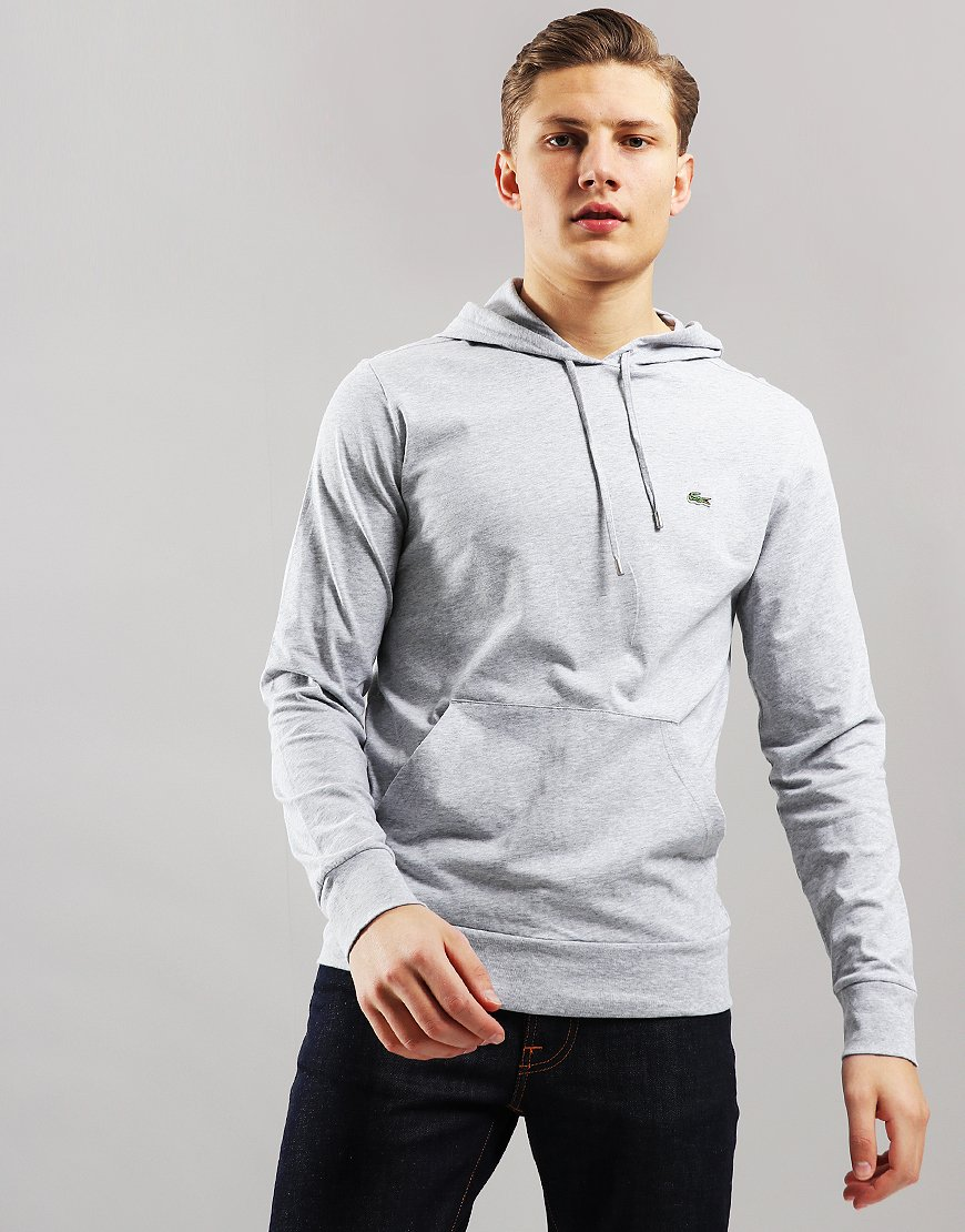 Lacoste Hooded Sweat Silver Chine