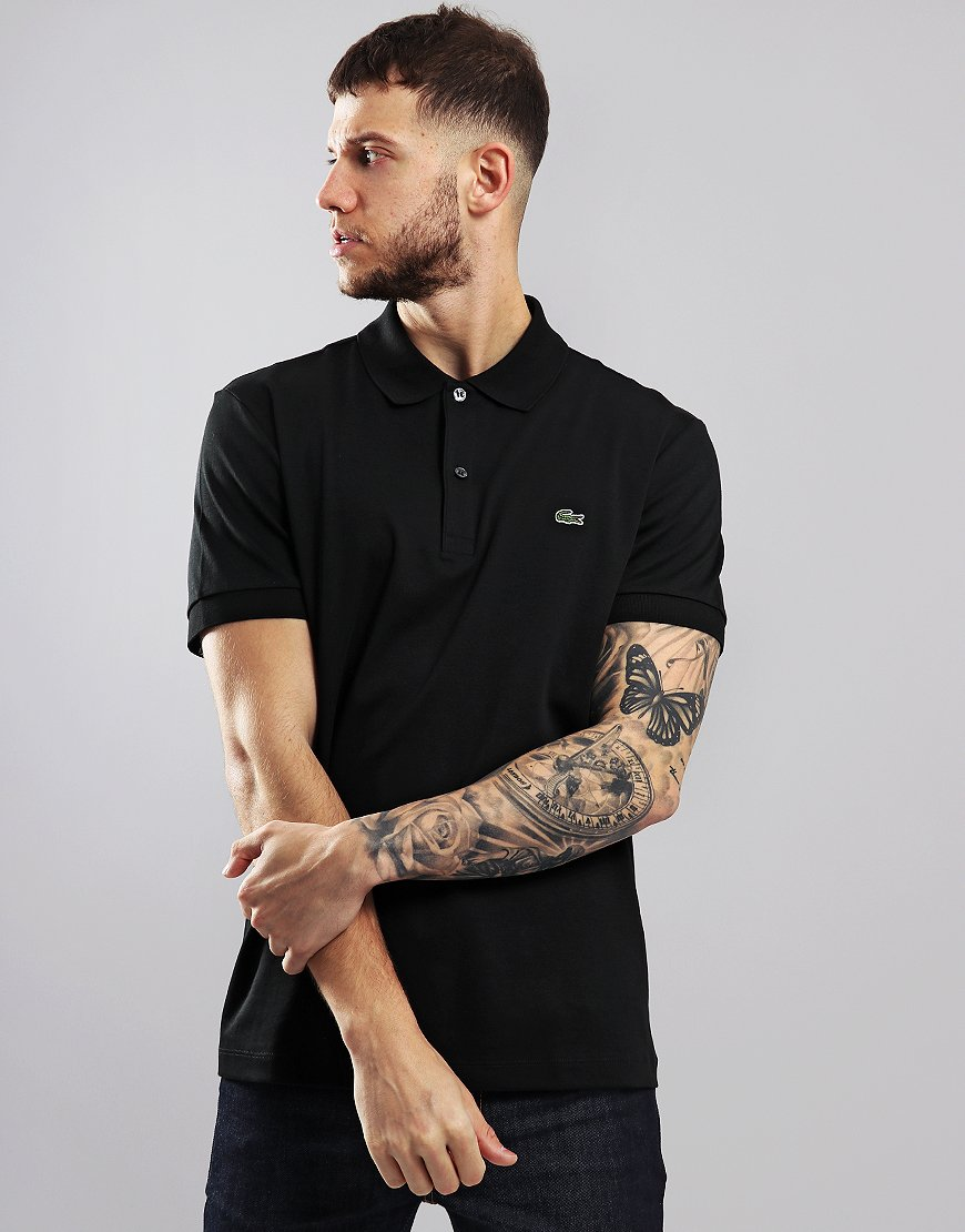 Lacoste Jersey Polo Shirt Black