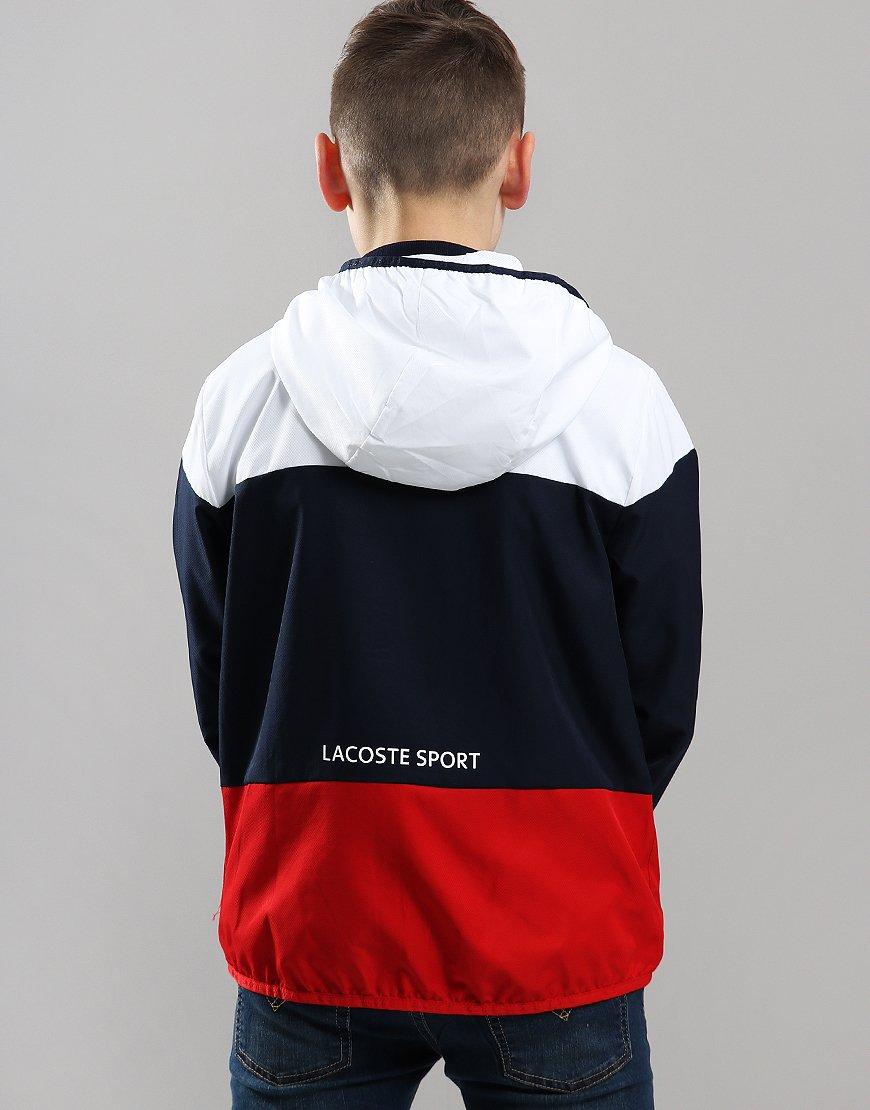 Lacoste Sport Hooded Colourblock Tennis Jacket Navy - Terraces Menswear bb9c463e80e