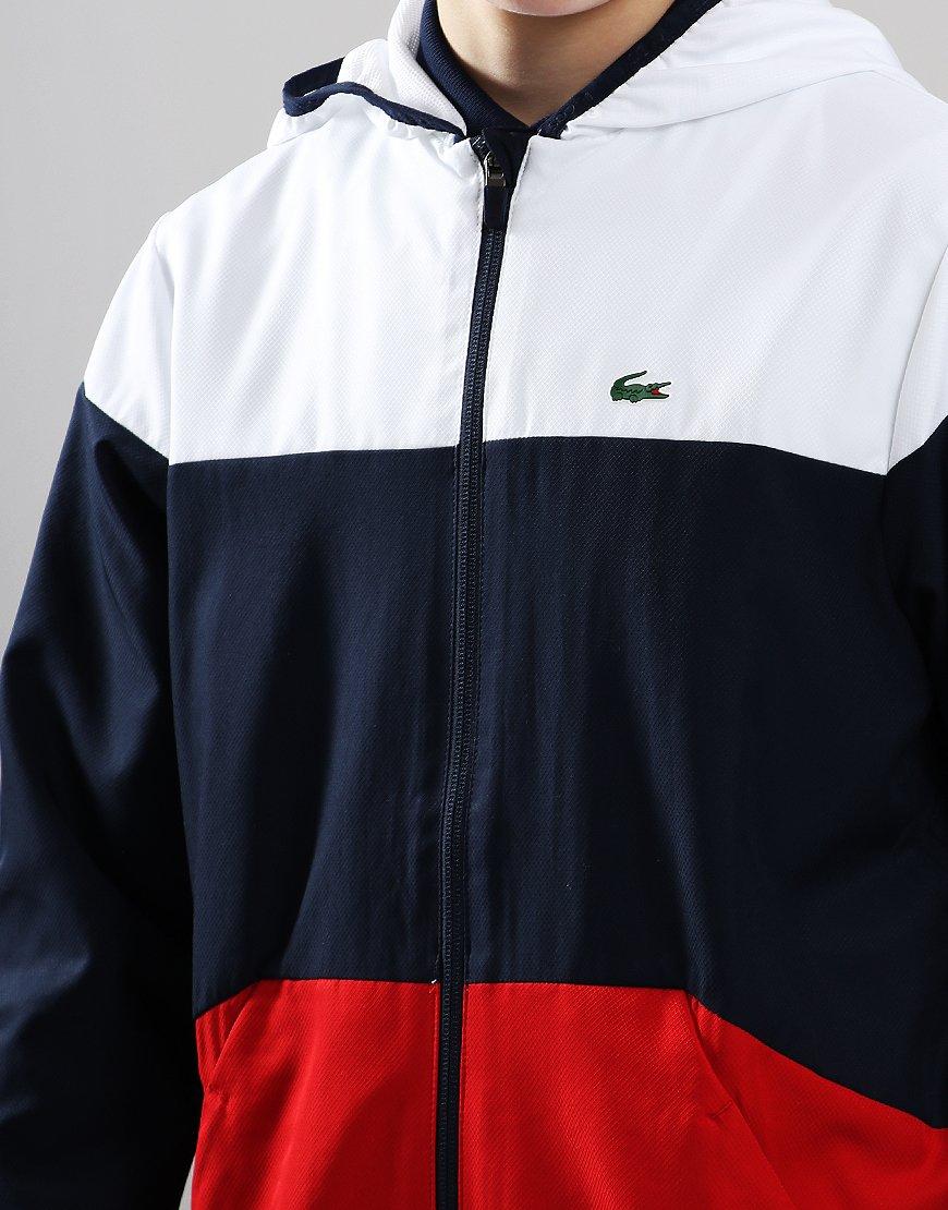 Hooded Colourblock Navy Sport Tennis Lacoste Kids Jacket wOnP08kX