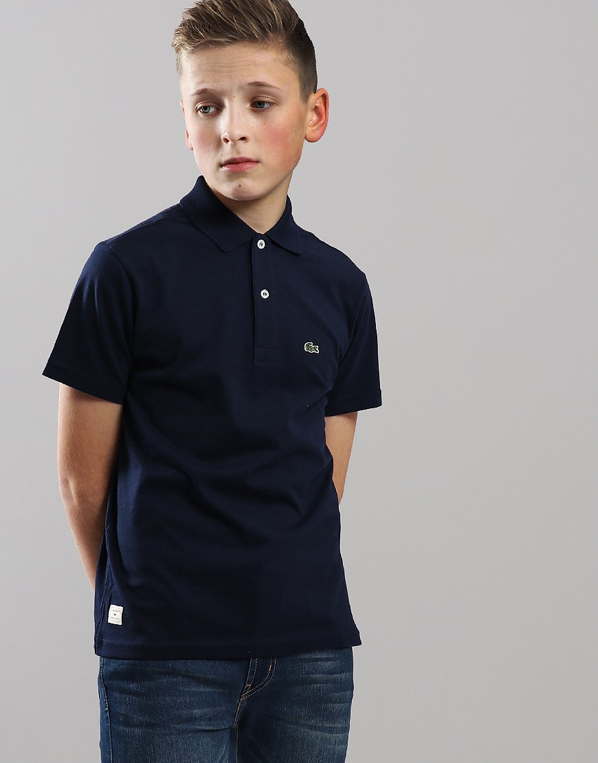 9f45f3359488 Lacoste Kids Jersey Cotton Polo Shirt Navy