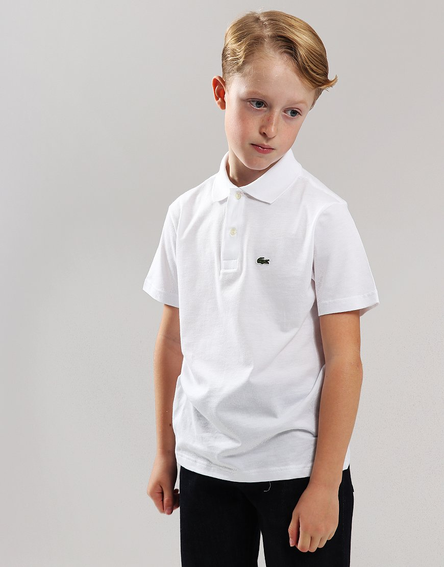 Lacoste Kids Jersey Cotton Polo Shirt White
