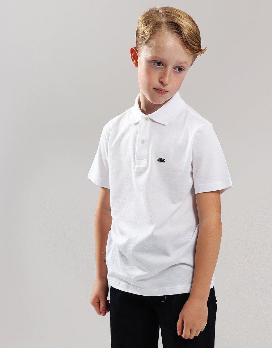 9da782c0 Lacoste Kids Jersey Cotton Polo Shirt White