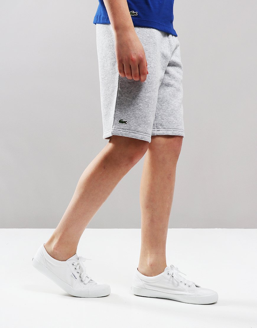 Lacoste Kids Jog Shorts Silver Chine