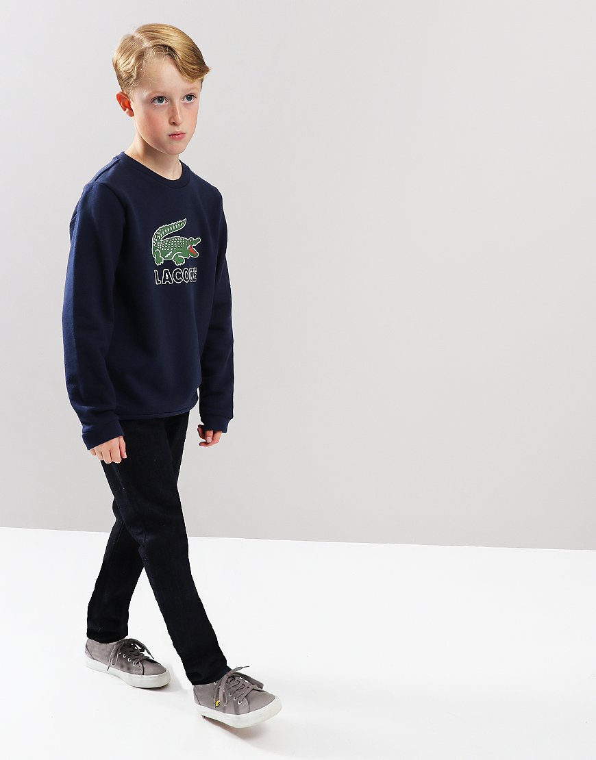 1827f09830de Lacoste Kids Logo Sweat Navy Blue - Terraces Menswear