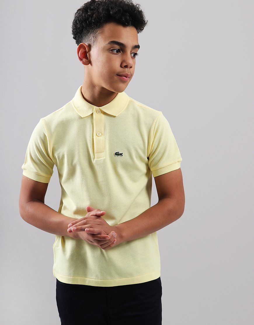 Lacoste Kids Plain Polo Shirt Neapolitan Yellow