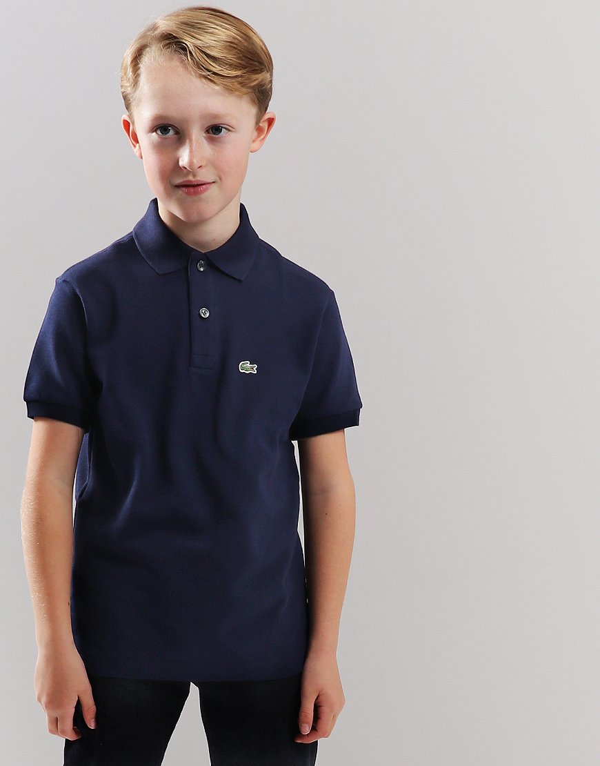 4d2f1ca7 Lacoste Kids Plain Polo Shirt Navy