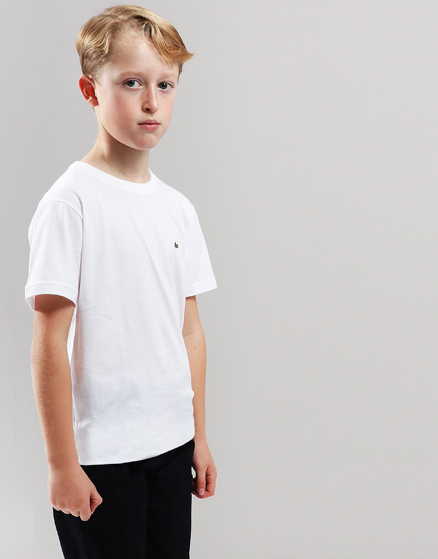 Lacoste Kids Crew Neck T-Shirt White