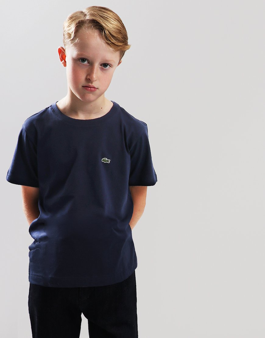 Lacoste Kids Crew Neck T-Shirt Navy Blue