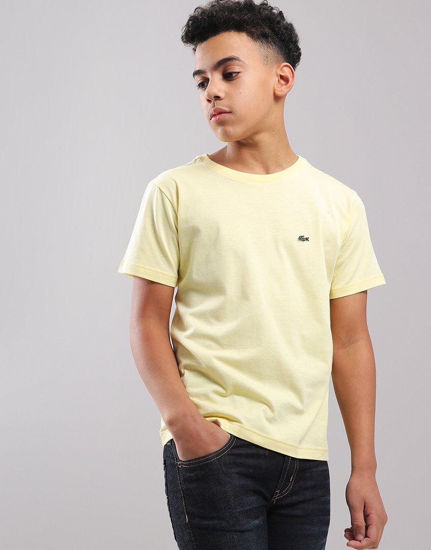Lacoste Kids Crew Neck T-Shirt Neapolitan Yellow