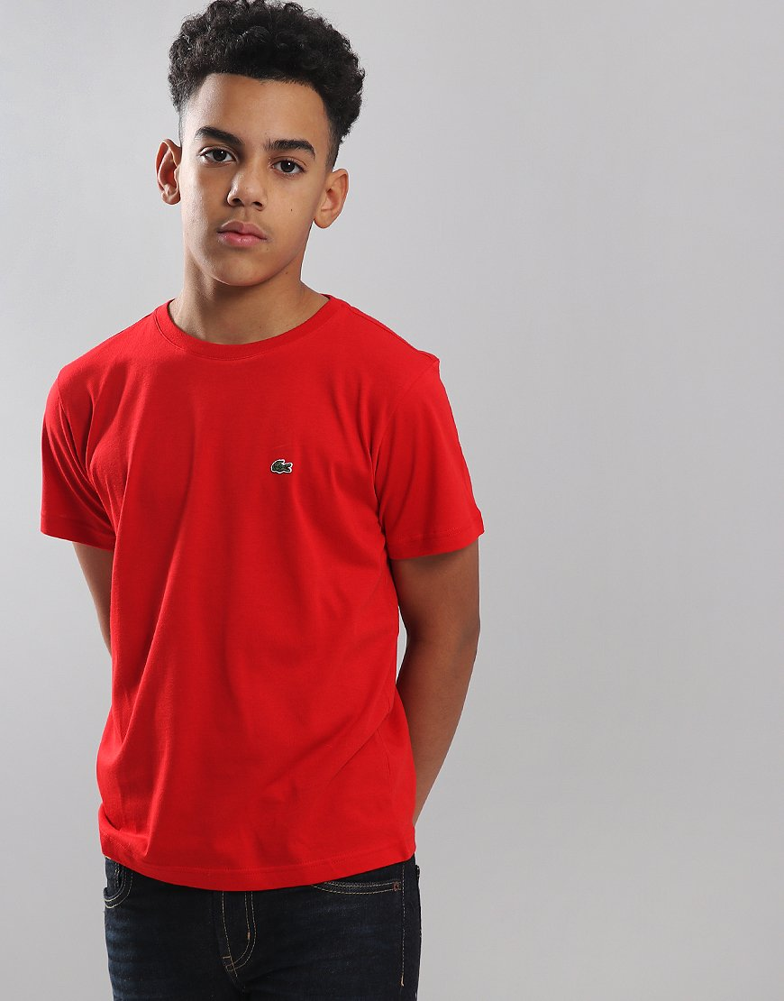 Lacoste Kids Crew Neck T-Shirt Red